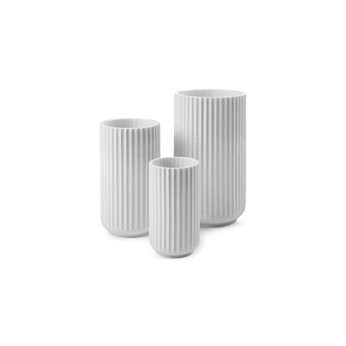 Lyngby Vase hvid - 15 cm