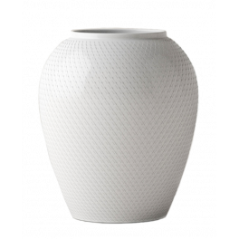 Lyngby Porcelæn Rhombe Vase 16,5 cm.