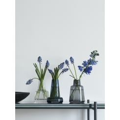 Holmegaard Flora Vase blå 12 cm.